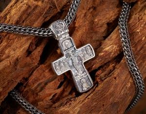 Купить цепочку с чернением под крест
