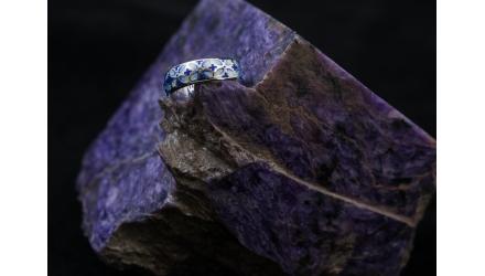 Купить православное кольцо с горячей эмалью