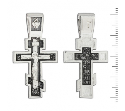 12-108 Крест (Ag 925)
