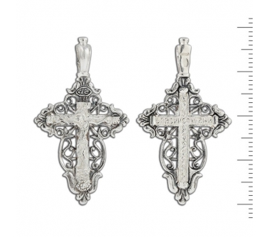 12-059 Крест (Ag 925)