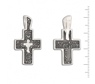 12-105 Крест (Ag 925)